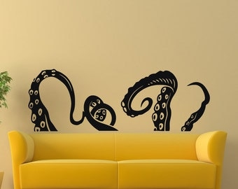 Vinyl Wall Decals Octopus Sprut Poulpe Tentacles Dorm Office Bedroom Decal Sticker Home Decor Art Mural Z670