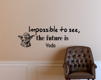 Wall Decals Yoda Star Wars Quote Decal Impossible to see Sayings Sticker Vinyl Decals Wall Decor Murals Z296