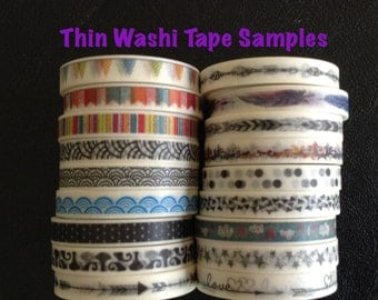 WSThin2: Washi Tape Samples, 24 Inches, Over 15 Samples to Choose  From, Scrapbooking, Cardmaking, Planner Decorations