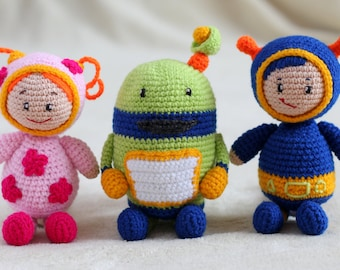 Umizoomi team toys crochet - cartoon characters, crochet toys for kids, safe toys for babies, birthday gift for daughter MADE TO ORDER