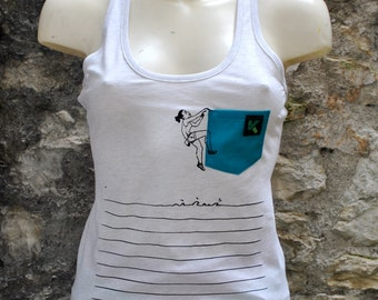 "Tank top ""Deep Water"" - woman"