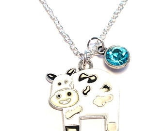 Cow Necklace, Cow Charm, Cow Pendant, Cow Jewelry, Farmers Wife, Farmers Daughter, Gift for Farmer, Farmer Jewelry, Farmers Gifts, Cow Girl