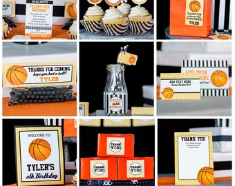 Basketball Party Decorations INSTANT DOWNLOAD - Basketball Birthday Party by Printable Studio