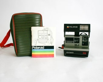 polaroid 636 talking camera tested with box. Black Bedroom Furniture Sets. Home Design Ideas