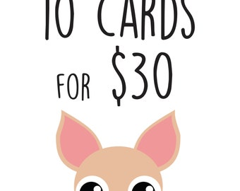 BUY and SAVE! 10 Card Pack