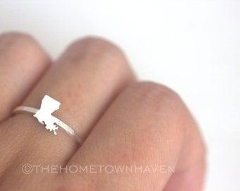 Louisiana Ring, Louisiana state ring, I heart Louisiana, Louisiana shaped ring