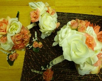 Affordable 6 piece Wedding bouquet set.