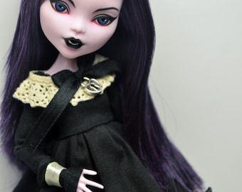 Custom Monster High Doll Repaint Elissabat OOAK by Crow
