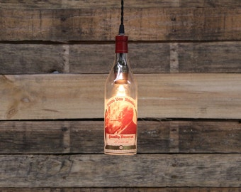 Pappy Van Winkle (20 Year)Bottle Pendant Light-Upcycled Industrial Glass Ceiling Light-Handmade Bourbon Bottle Light Fixture, Recycled Light