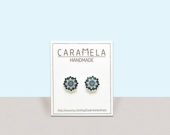 Mandala Earrings Stud Earrings flowers stud earrings