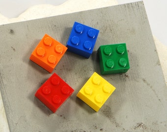 Rainbow Fridge Magnets - Five Bright Coloured Refrigerator Magnets - Colourful Rare Earth Magnet - Red, Orange, Yellow, Green and Blue