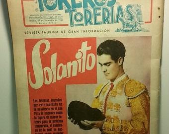 Spanish Bullfighting Magazine - Toreros Torerias 1955