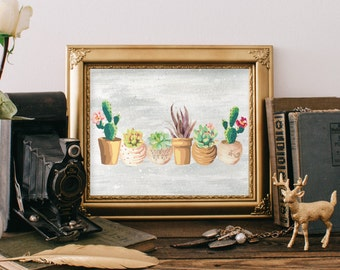 Cactus print, Southwest decor art, Cactus art, Succulent print, Tribal print art, Western prints, Home decor, Southwest art Desert art BD832