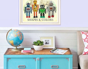 DIVERISTY Poster. Printable classroom decor. Robot Art. Friendship poster Quotes for KIDS