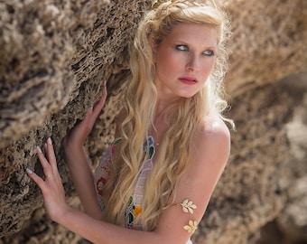 Greek Goddess Upper Arm Bracelet, Upper Arm Cuff, Arm Bracelet, Leaf Bracelet, Arm Cuff, Gold Bracelet, Gold Leaf Bracelet, Wedding Bracelet