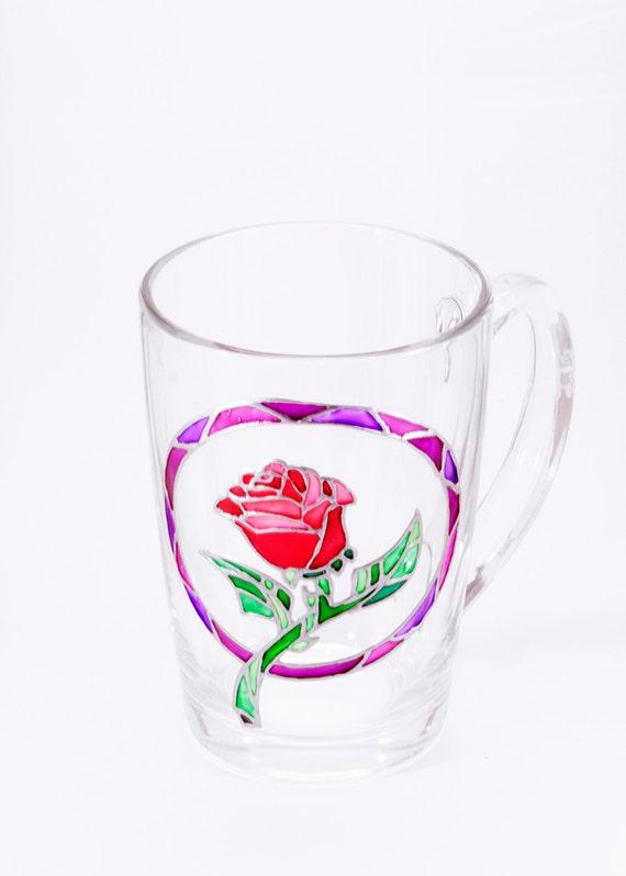 Red Rose Mug Beauty And The Beast Wedding Unique Mug