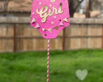 Cake Topper Pink Baby Shower Birthday Custom Personalized