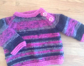 Sweater, Baby Sweater, Knit Baby Sweater, Sweater for Baby, Hand knitted, sized 12-18 months