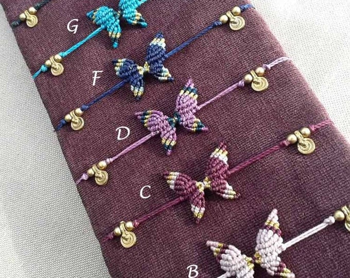 Butterfly bracelet anklet-Mod. Ana, 9 colors to choose, butterfly anklet, anklet brass, nickel free, free shipping