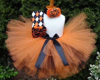Pumpkin Orange Tutu/Fall Orange Outfit/Newborn Fall Outfit/Halloween Tutu/Orange Tutu/Fall Birthday Set/Cakesmash Tutu/Baby Fall Tutu Outfit