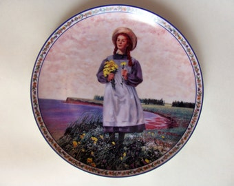"""Vintage 90s Anne of Green Gables """"Dreams Do Come True"""" Decoration Plate, with B. F. Stahl Signature"""