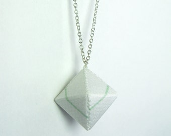 Small Diamond Necklace - White and Green