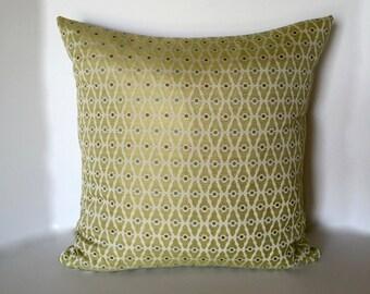 Designer Pillow -  Accent Pillow - Decorative Pillow - Pillow Cover - Lime Green Throw Pillow