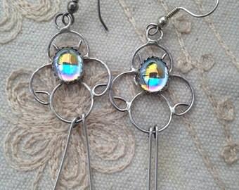SALE:Dangle Earrings, boho dangle earrings, silver  vintage dangle earrings, silver dangle earrings, vintage earrings, boho earrings, dangle