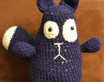 Peg+Cat, Crocheted Cat from Peg+Cat, Crocheted Toy, Stuffed Animal, Amigurumi, Kid's Toy, Crocheted Peg+Cat, Crocheted Stuffed Animal