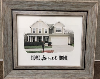 Watercolor Frame - Home Sweet Home