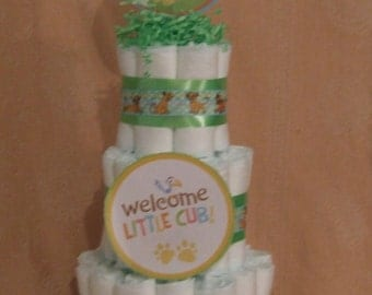 3 Tier Diaper Cake Disney The Lion King Baby Shower Centerpiece
