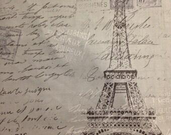Grey Paris by Brother Sister Design Studio, 100% Cotton