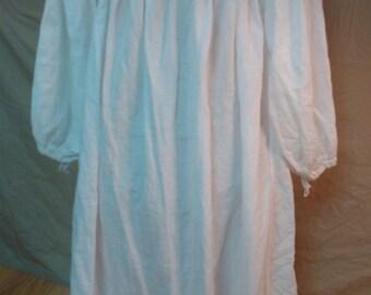 Chemise, Women's Cotton/Linen Victorian-era, SCA, LARP, Renn Faire, Nightgown, Medieval