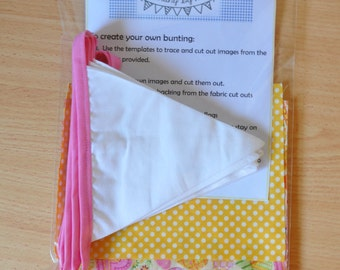 Decorate your own bunting kit (large)