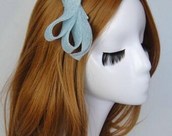 Blue Fascinator, Something Blue, Wedding headpiece, Minimalist, Modern, Wedding, Bridesmaid, SABRINA