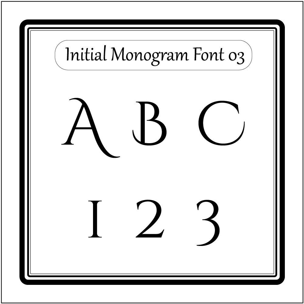 Download Initial Monogram font alphabet svg files for cricut svg files