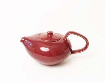 Russel Wright Teapot, Brown Teapot, Oneida Teapot, Designer Teapot
