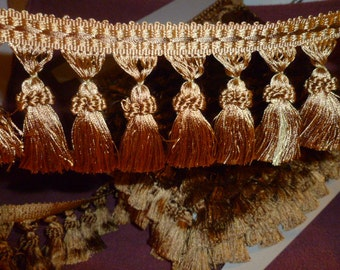 TF445605  Gold Tassel Fringe  12 Yards