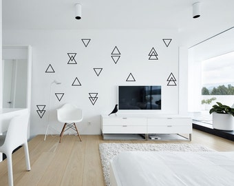 Superbe Triangle Wall Decals, 100 Self Adhesive Nursery Wall Decals, Little Peaks Wall  Stickers,