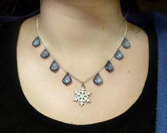 Ice Winter Snowflake necklace