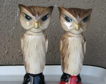 Owl Salt And Pepper Etsy