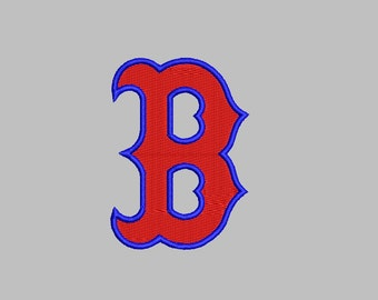 Boston Red Sox Embroidery Design - 3 sizes instant download