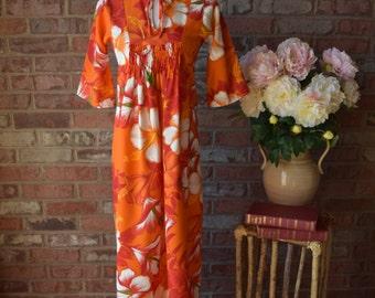 HAWAIIAN Mumu Dress JC Penneys Long Dress