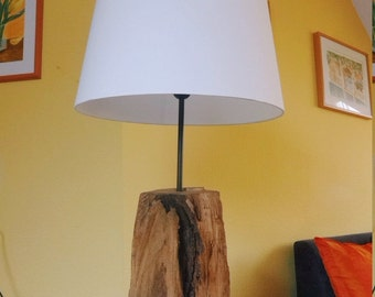 Wood lamp built with love