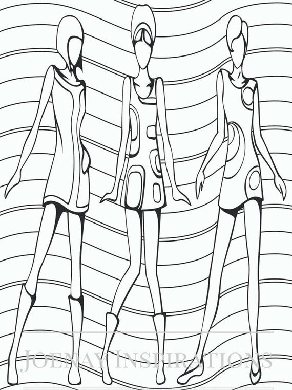 Adult Coloring Book, Printable Coloring Pages, Coloring Pages, Coloring Book for Adults, Instant Download, I love 70s 1 page 2