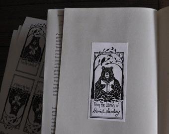 Reading Bear Book Plates (Sheet of Ten)