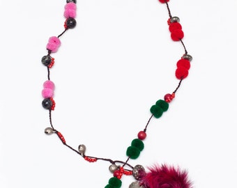 7. Pompom Necklace