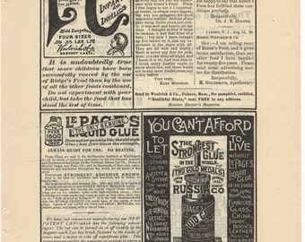 1888 Full Ad Page: LePage's Glue, Cereal, Cocoa