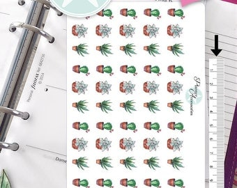 Cactus Stickers Succulent Stickers Plants Stickers Planner Stickers Erin Condren Decorative Stickers Live Planner NR423