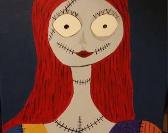 Sally, nightmare before christmas painting